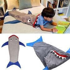 Kids Shark Mermaid Tail Fleece Blanket Snuggle-in Cosy Soft Sleeping Bag