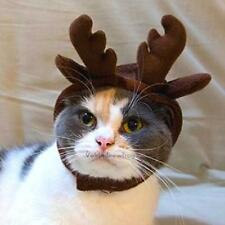 Cute Reindeer Pet Hat for Cats Dogs Costume Cap Christmas Cosplay Xmas Gift #V