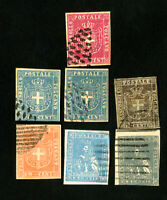 Tuscany Stamps Lot of VF 7 Classic Reference Issues
