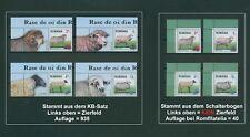 Rumänien 2017 Schafe,Schafrassen,Sheep,Pecora Mi.7284-87 ** aus KB+Bogen,RAR.