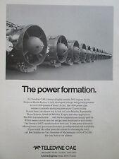 9/1977 PUB TELEDYNE CAE J402 TURBOJET ENGINE DRONE MISSILE HARPOON ORIGINAL AD