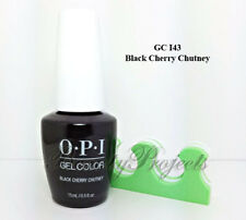OPI GelColor Black Cherry Chutney GC I43 Soak Off LED/UV Gel 2017 .5oz +bonus