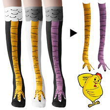 Women Girl Knee-High Socks Chicken Leg Warmer Long Thigh 3D Sock Funny Stockings