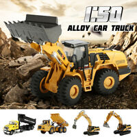 HUINA 1:50 Alloy Car Truck Construction Vehicle Excavator Equipment Model