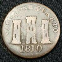 GIBRALTAR. 1 Quarto 1810 Small Date