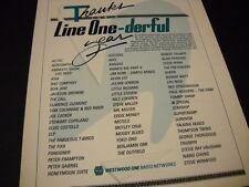 Westwood One 1986 Promo Ad Mr. Mister Steve Miller Benjamin Orr 38 Special more