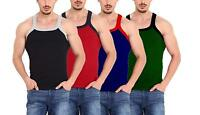 4 Pack Mens Vest Assorted Colour Cotton Gym Sleeveless man tank top Regular Fit