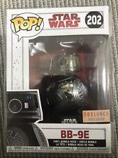 Funko Pop BB-9E Box Lunch exclusive chrome w/ protector