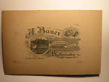Pfaffenhofen a. Ilm - korpulente Frau - Portrait / KAB Rückseite mit Haus