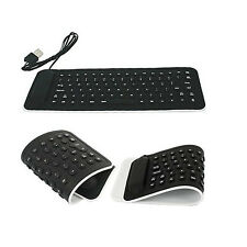 Foldable Mini USB Flexible Silicone Keyboard For Laptop Notebook Tablet
