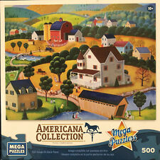"Mega Puzzlers Americana Collection Nostalgic Autumn Used 500 Pcs (13""x19"")"