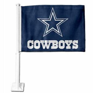 NFL Dallas Cowboys Car Flag,  Double Sided, UV Fade Resistant