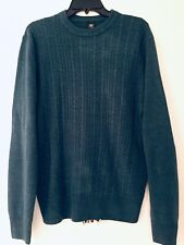Dockers Pullover Sweater M Cable Knit Acrylic Long Sleeve Navy Heather