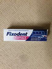 Fixodent Partials 0% Premium Denture Adhesive Microseal, 40g