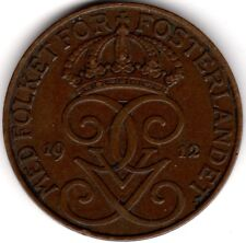 More details for 1912 sweden 5 ore coin   pennies2pounds