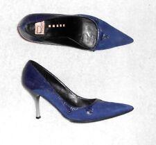 TINTAUNITA escarpins cuir & daim bleu P 37 TBE