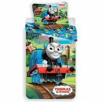 Thomas & Friends Piste Set Housse de Couette Simple Coton Literie Euro Taille