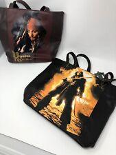 Disney Pirates of the Caribbean Jack Sparrow Tote Shoulder Bag Purse Lot Of 2