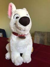 "Disney Store Bolt the Superdog Sitting Dog Toy 12"" Stuffed Plush Medium NWHT"