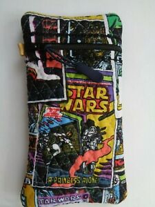 QUILTED ZIPPERED GLASSES SPECTACLE CASE STARWARS