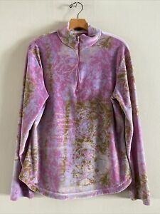 Obermeyer Women's 1/2 Zip Sueded Fleece Size LARGE
