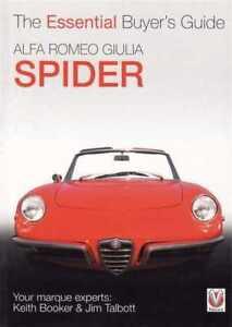 Alfa Romeo Giulia Spider Buyer's Guide RESTORE WORKSHOP SERVICE REPAIR MANUAL
