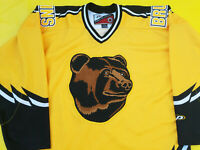 Boston Bruins Jersey Mens L yellow Pro Player TEDDY POOH BEAR proplayer large