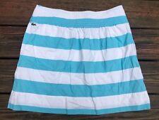 Lacoste Blue & White Skirt, Size 40 (Large), Above Knee Length, Side Pockets