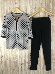 Women's NEW European 100% Cotton Polka Dot Pajama Set Lounge Set Sz:Medium N105