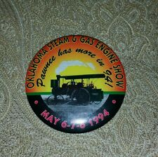 Oklahoma steam and gas engine show Pawnee 1994 pin back button