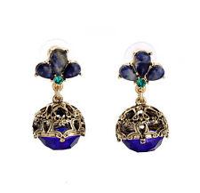 NEW Urban Anthropologie Adalene Royal Blue Strobe Gold Earrings