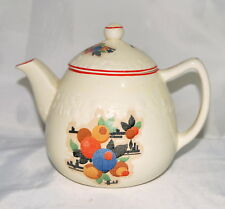 Vtg Coffee Tea Pot Pantry Bak-In Ware by Crooksville 1037 Embossed and Decals