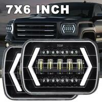 Pair 7X6 7X5'' LED Headlights DRL Hi/Lo Sealed Beam DOT for Toyota Hilux 88-97