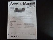 Service MANUAL TECHNICS COMPACT DISC PLAYER sl-ch550