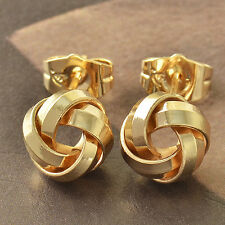 Cool 9K Gold Filled Love Knot Ladies Stud Earrings F4069