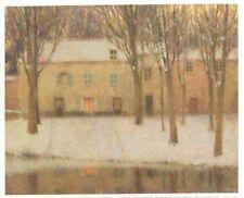 Henri Le Sidaner Petite Place au Bord L'eau-Mini Poster Bild Kunstdruck 20x25cm