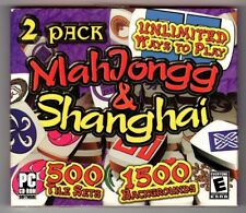 2 Pack Mahjongg & Shanghai (PC, 2004) - Game Mill - Free USA Shipping!