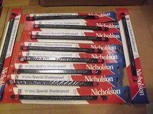"100  !! Nicholson 10"" x 24 Tooth Hacksaw Blades # 63173 Made In USA"