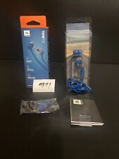 JBL Tune 110 Blue Headphones / Earbuds, New In SEALED Box!! Hands Free Calling
