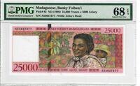 Madagascar 25,000 Francs 1998 Pick# 82 PMG Superb UNC 68 EPQ