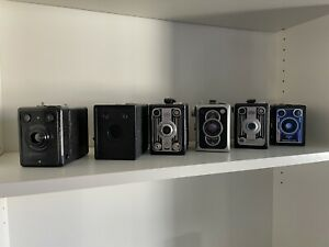 Konvolut Boxkamera, Box-Camera: Box Tengor, Bilora, Agfa, Kodax usw.
