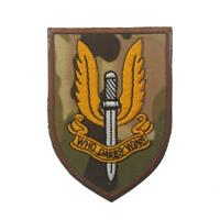 Special Air Service SAS Wings Who Dares Wins Multicam Embroidered Airsoft Patch