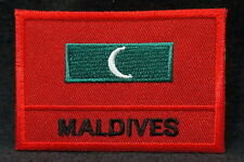 """MALDIVES FLAG EMBLEM PATCH SEW ON EASY TO USE 2""""x3"""""""