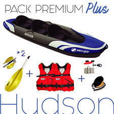 Pack kayaking inflatable 2/3 places HUDSON SEVYLOR , NEW