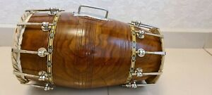 dholak and Naal professional standard size. Jas brand. Dark brown colour.