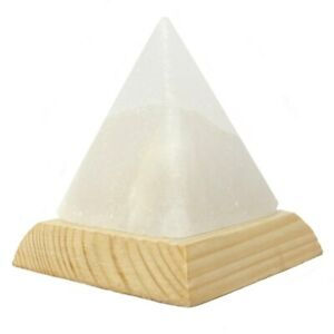 USB Salt Lamp Pyramid White Humidity Himalayan Multi Colour