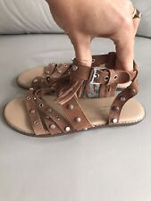 Next Girls Suede Leather Sandals Size 4 BNWT