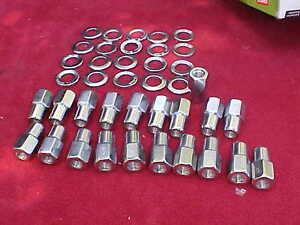 20,1/2 x20 nhra open end mag wheel lug nuts,cragar with center washers,CCM3