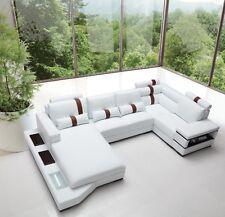 VIG Furniture Divani Casa Massimo - Bonded Leather Sectional Sofa With Light