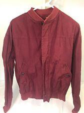Vtg 60's Martin Mens Jacket Size 42 Maroon Red Zip Up Coat Vented Windbreaker